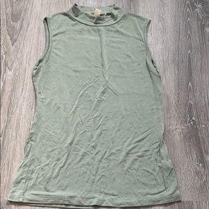 Miami light cream green color cut off shirt